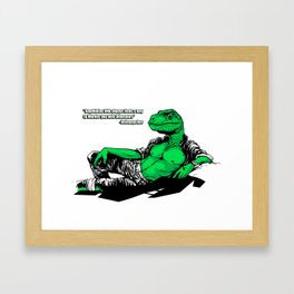 Amphibian DNA - Dienonychus - Black Shirt Framed Art Print