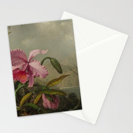 Martin Johnson Heade - Orchids and Hummingbirds Stationery Cards