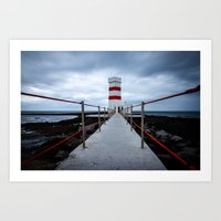 The Old Lighthouse, Iceland Art Print