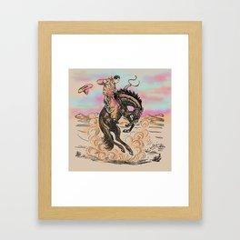 Let er Rip Framed Art Print