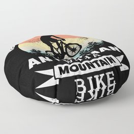Old Man with a Mountain Bike | MTB Gift Floor Pillow
