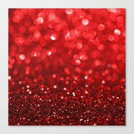 Ruby Red Disco Glitter & Sparkles Canvas Print