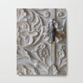 Floral Faucet Metal Print