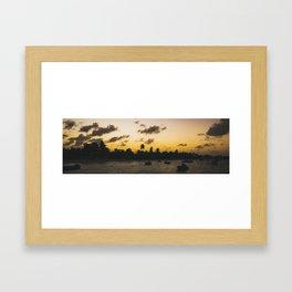 Island Harbor Sunset Framed Art Print