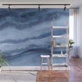 Indigo Blue Agate Pattern Wall Mural
