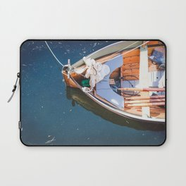Nautical Fine Art Photography Boat in Water Laptop Sleeve