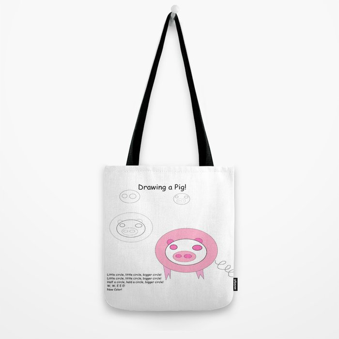How To Draw A Pig Song Tote Bag By Supersupplies Society6