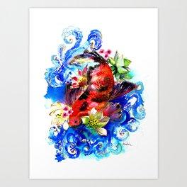 Carpa Koi Art Print