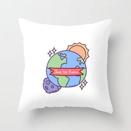 Save The Earth Environmental Protection Sun Moon Gift Throw Pillow