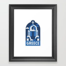 Vagabond Heart Greece Framed Art Print