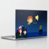 peter pan Laptop & iPad Skins featuring Peter Pan by UniverseSunny