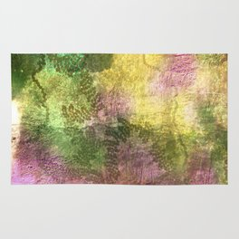 Snail trails on colorful bark Rug