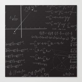 Mathematical seamless pattern Canvas Print