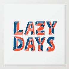 LAZY DAYS Canvas Print