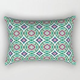 Ethnic Geometric Moroccan Watercolor Seamless Patern 4 Rectangular Pillow