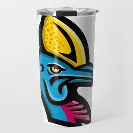 Cassowary Head Mascot Travel Mug