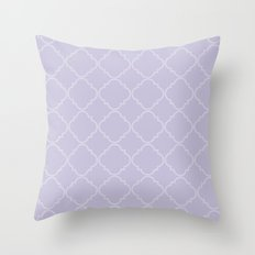 Quatrefoil - Lavender Throw Pillow