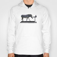 fitness Hoodies featuring Fitness Zebra by Bemular