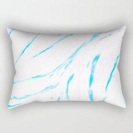 Swooping Blues Rectangular Pillow