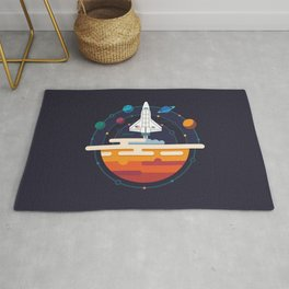 Space Shuttle & Solar System Rug