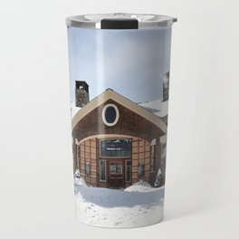 Magical Winter Rustic Vermont House Travel Mug