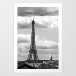 Eiffel Tower from rooftop of Galeries Lafayette Art Print