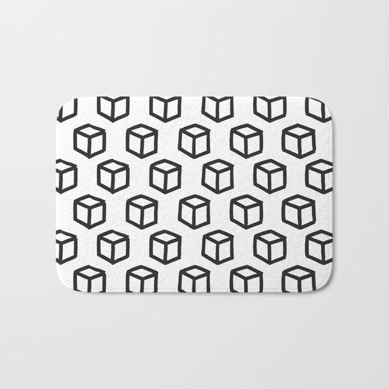 Geometric minimalist pattern Bath Mat