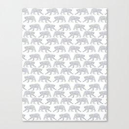 Polar Bears geometric trendy kids bear pattern print for boy or girl gender neutral Canvas Print