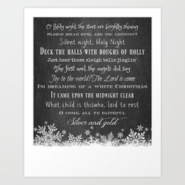 Christmas Carols Art Print