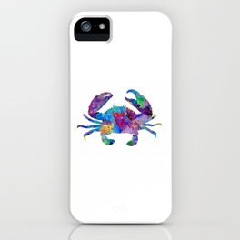Crab Art Colorful Sea Life Artwork Watercolor Gift iPhone Case