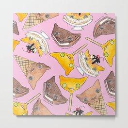 """Oro?"" Ice Creams Pink Metal Print"