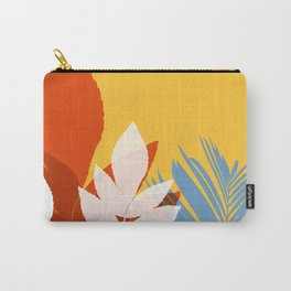Leaves silhouette in orange and red Carry-All Pouch