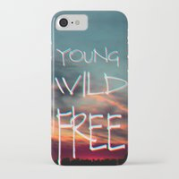 neil young iPhone & iPod Cases featuring YOUNG by Monika Strigel®