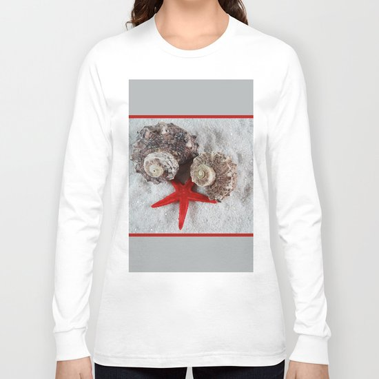 Seashell and Red Star Long Sleeve T-shirt