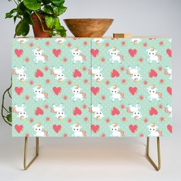 Baby Unicorn with Hearts Credenza