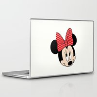 minnie mouse Laptop & iPad Skins featuring So cute Minnie Mouse by Yuliya L