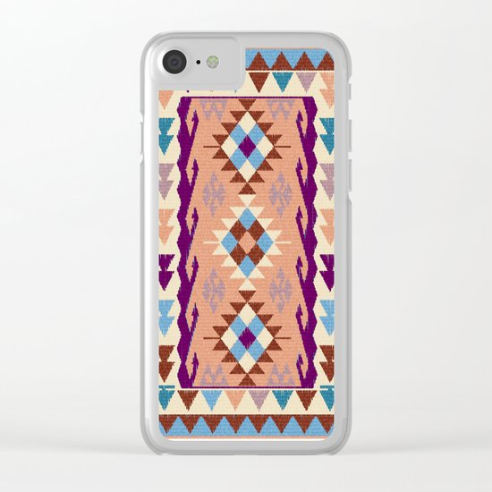 Kilim Rug Clear iPhone Case