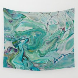 River Eddy - Abstract Acrylic Art by Fluid Nature Wall Tapestry