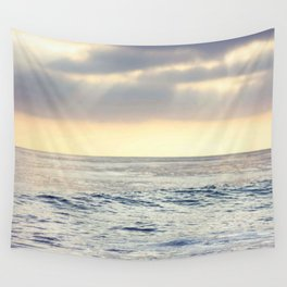 California Sunset over the Pacific Ocean Wall Tapestry