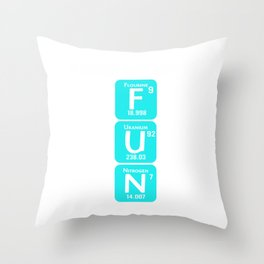 Biochemistry Is Fun Science Elements Nerds Geeks Biology Chemistry Physics Gift Throw Pillow