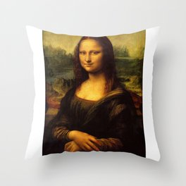 Monalisa, Leonardo Da Vinci, Mona Lisa, original Throw Pillow