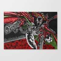 spawn Canvas Prints featuring SPAWN by NICHOLAS PRICE ART PRINTS