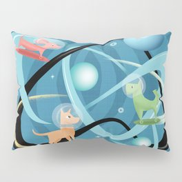 Atomic Rocket Powered Space Dogs Pillow Sham