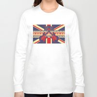 british Long Sleeve T-shirts featuring British Rock by Ornaart