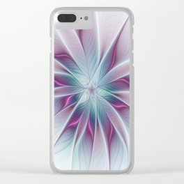 Floral and Luminous, abstract Fractal Art Clear iPhone Case