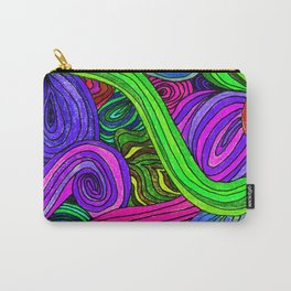 Psychedelic Lines (Green) Carry-All Pouch