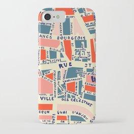 paris map blue iPhone Case