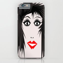 wow | a girl iPhone Case