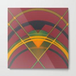 Geometry in Red Metal Print