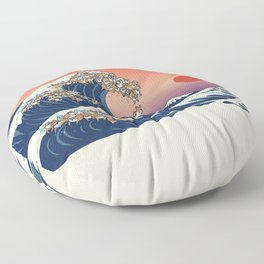 The Great Wave of Shiba Inu Floor Pillow